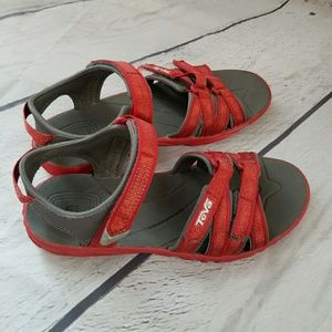 Teva Shoes - Teva tirra metallic red sandals sz 3